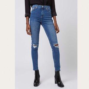 Top shop Jamie moto jeans